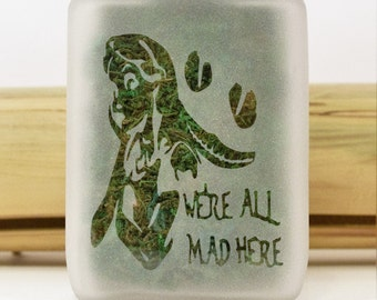 Alice in Wonderland Stash Jar - We're All Mad Here - Weed Accessories, Stoner Gifts for Her, Stash Jars - Stoner Accessories
