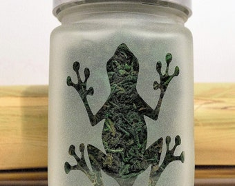 Frog Stash Jar