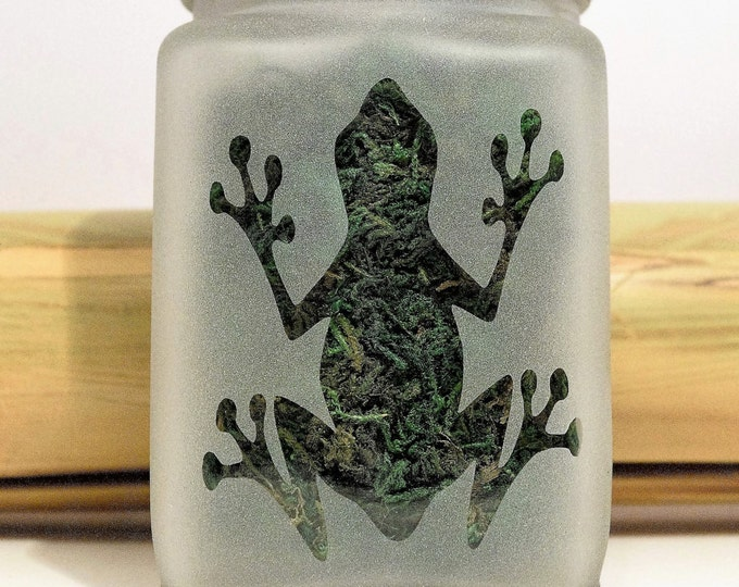 Frog Stash Jar - Cannabis Frogs Weed Jars - 420 Stash Jars, Smell Resistant - Weed Accessories, Stoner Gifts, Stoner Accessories