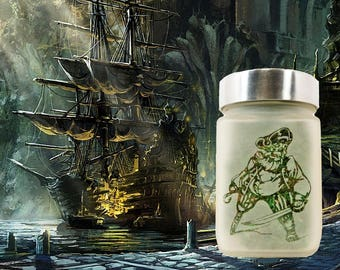 Pirates Stash Jar - Weed Accessories - 420 Weed Gifts, Stoner Accessories & Stash Jars -  Stoner Gift Ideas - Weed Accessories