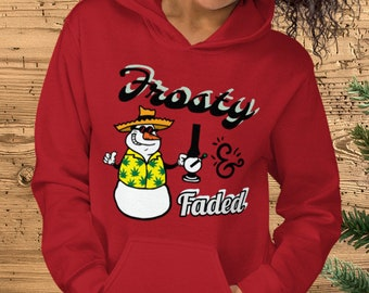 Frosty & Faded Snowman Hoodie Sweatshirt
