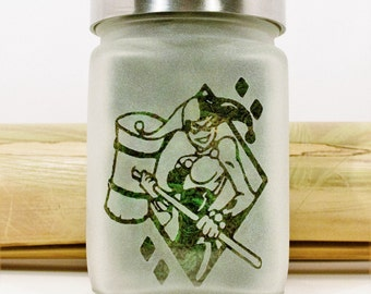 Harley Quinn Stash Jar - Weed Accessories - Stoner Gifts for Her - Weed Jars, Stoner Accessories - Stoner Gear, Weed Gifts
