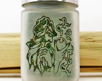 Wizard with Fire Stash Jar - Weed Accessories, Fantasy Stoner Gifts - Weed Jars, Stoner Accessories - Cannabis Gift