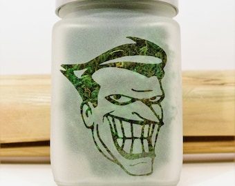 Smiling Clown Stash Jar - Weed 420 Gifts, Stoner Accessories, Weed Gifts for Him, Clown Weed Jar