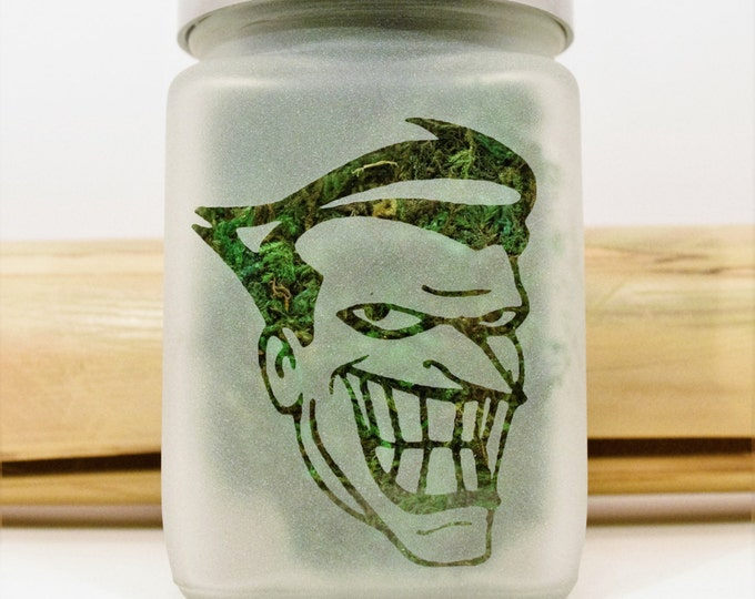 Joker Stash Jar - Weed Christmas Gift, Stoner Accessories, Weed Gifts for Him, Batman Weed Jar