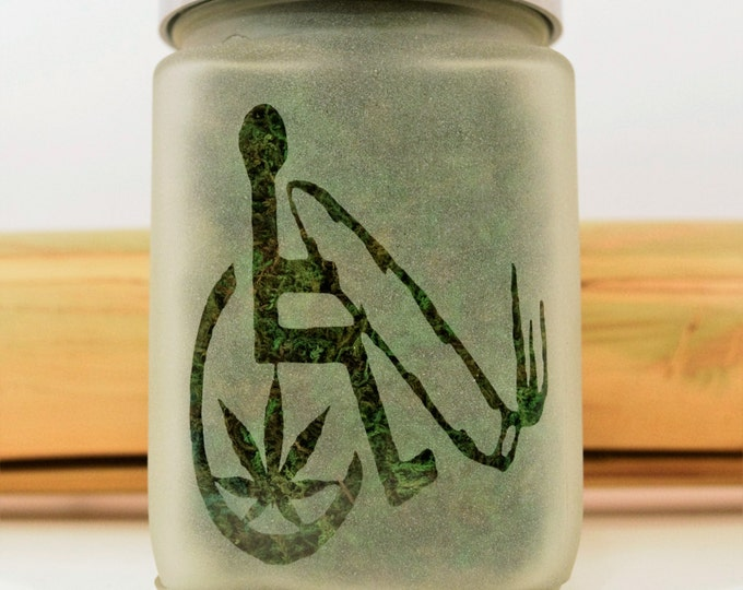 Cannabis Accessible Stash Jar - Medical Marijuana Gift - Weed Gifts - Weed Accessories