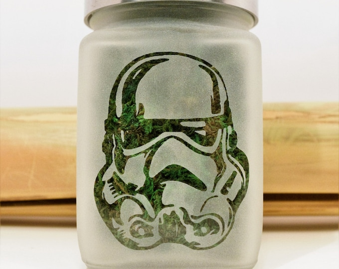 Storm Trooper Stash Jars - 420 Weed Jar - Star Wars Weed Accessories, Stoner Gifts - Stash Jar - Weed Gifts & Stoner Accessories
