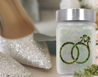 Cannabis Wedding Ring Stash Jar