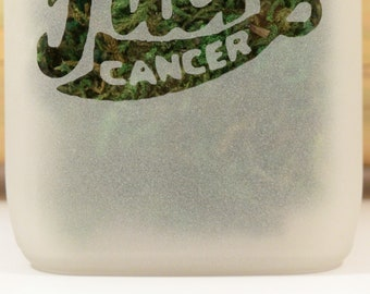 F**k Cancer Stash Jar - Weed Accessories & Mature Gifts - Medical Marijuana Weed Storage (MATURE)