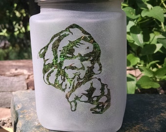 Evil Sorcerer Stash Jar - 420 Weed Accessories, Stoner Gifts and Stash Jars, Edibles Canister, Stoner Gear - Cannabis Storage