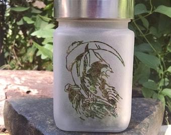 Grim Reaper Stash Jar - 420 Weed Accessories, Stoner Gifts - Dank Stash Jars - Stoner Accessories, Weed Jars - Dope Jar
