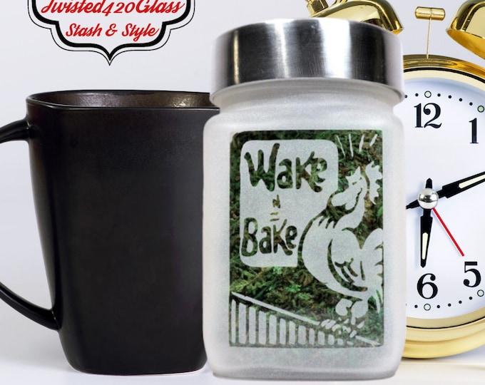 Wake and Bake Weed Stash Jar