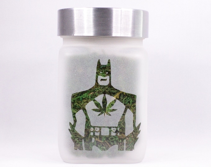 Nocturnal Dank Man Stash Jar with Pot Leaf
