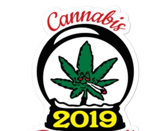 Cannabis Christmas 2019 Stickers, Funny Christmas Gift Labels, Cannabis Christmas Gift Tags, Fun Stocking Stuffer