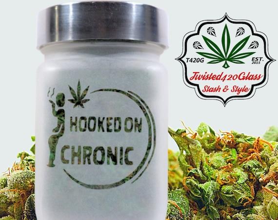Hooked On Chronic Stash Jar