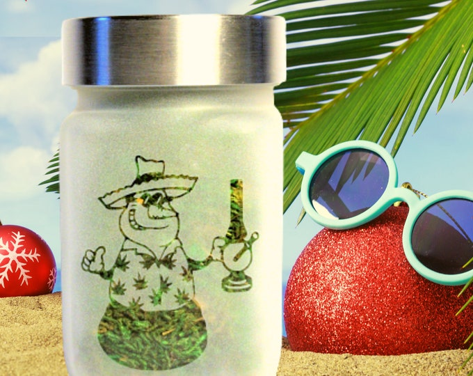 Tropical Snowman Stash Jar