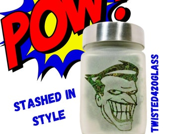 Smiling Clown Stash Jar - Weed 420 Gifts, Stoner Accessories, Weed Accessories and Marijuana Birthday Gifts, Cool Cannabis Jar