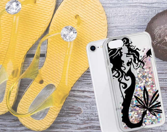 Mermaid Liquid Glitter iPhone Case