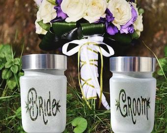 Elegantly Elevated Bride & Groom Stash Jar Gift Set   420 Bridal Accessories and Wedding Gifts