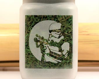 Star Wars inspired Storm Trooper Stash Jar - Weed Accessories & Stoner Gifts, Weed Gifts for Him