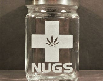 Medical Marijuana Stash Jar - Weed Accessories & Medical Marijuana Stoner Gift - Cannabis Gifts - 420 Jar - Nugs Jar, Stoner Accessories