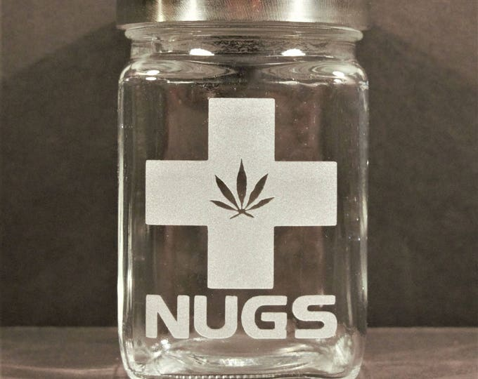 Medical Marijuana Stash Jar - Weed Accessories & Medical Marijuana Stoner Gift - Cannabis Gifts - 420 Jar - Nugs Jar, Stoner Accessories