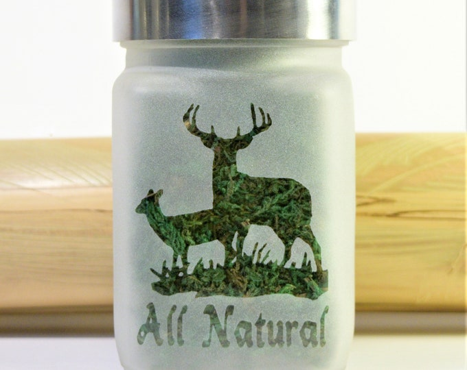Deer Stash Jar - Weed Accessories, Stash Jars, Stoner Gifts for Him - Ganja Gift - Stoner Accessories, All Natural Medicine - Dope Jar
