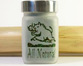 Wild Boar Stash Jar - Hunting & Fishing Gifts for Him - Cannabis Gifts, Weed Accessories and All Natural Stoner Gifts - Marijuana Jar