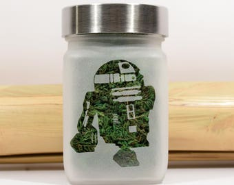 Star Wars R2D2 Stash Jar - Stoner Gifts & Stash Jars - Weed Accessories - Ganja Gifts for Stoners - Stoner Accessories - Star Wars Gifts