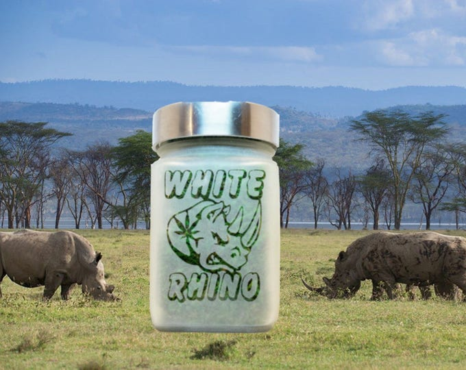 White Rhino Stash Jar & Edibles Canisters