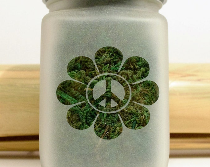 Peace Daisy Stash Jar - Stoner Girl Weed Accessories - Weed Stash Jars - Stoner Accessories, Cannabis Gifts for Her - Weed Jars