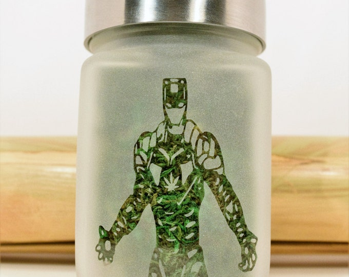 Iron Man Stash Jar - Weed Accessories, Stoner Gifts, Stash Jars - Cannabis Gifts, Stoner Accessories - Weed Jars, Dope Accessories
