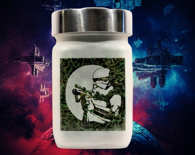 Star Wars inspired Storm Trooper Stash Jar - Weed Accessories & Stoner Gifts, Weed Gifts for Him,