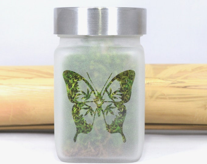 Bud-A-Fly Butterfly & Potleaf Stash Jar Bridesmaids Gifts, Stoner Girl Birthday, Bachelorette Party Favors, Cannabis Weed Bridal Shower Gift