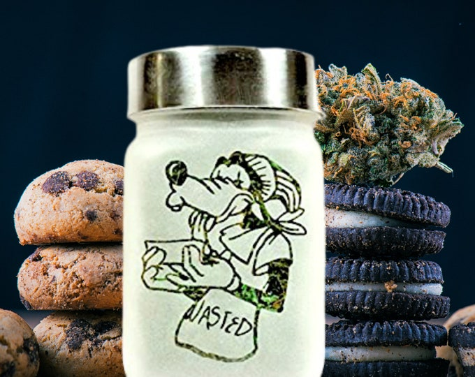 Silly Dog Stash Jar - Fun Smoking Accessories, Canna Cutie Stoner Gifts - Weed Jars & Stoner Girl 420 Birthday Gift