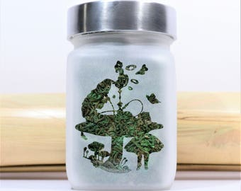 Hookah Smoking Caterpillar Stash Jar