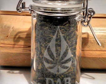 Weed, Dab & Stash Jar - 420 Gifts - Weed Accessories, Stash Jars - Cannabis Storage - Weed Gifts - Stoner Gear