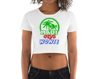 Multi Color Maui Wowie Ladies Island Crop Top