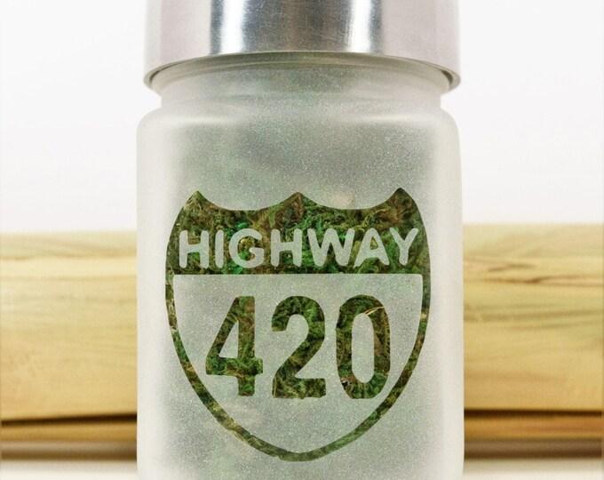Highway 420 Stash Jar | Stoner Christmas Gift, Stash Jars & Weed Accessories - Ganja Gifts - Hwy 420 Jars, Stoner Accessories, Weed Gift