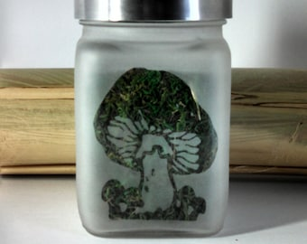 Magical Mushroom Stash Jar & Weed Accessories - Weed Jar - Glass Stash Jars