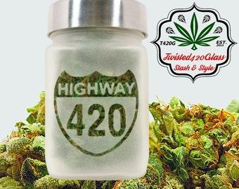 Highway 420 Stash Jar   Stoner Gift, Stash Jars & Weed Accessories - Ganja Gifts - Hwy 420 Jars, Stoner Accessories, Weed Gift