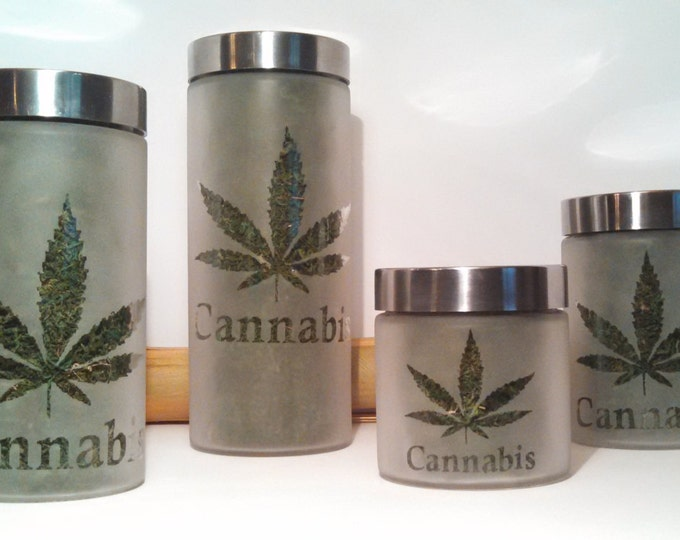 4 Piece Cannabis Dispensary Storage Set