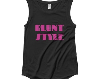 Blunt Style Ladies Weed T-Shirt - Cap Sleeve Womens Tee, Weed Accessories, Ladies Weed Tee