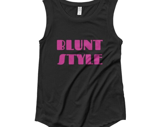 Blunt Style Ladies Weed T-Shirt - Cap Sleeve Womens Tee, Weed Accessories, Ladies Weed Tee