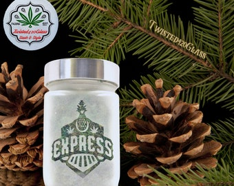 Stash Jar - Pineapple Express Stash Jars & Weed Accessories - Stoner Gifts and Weed Jars - 420 Cannabis Gift for Her