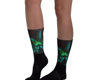 Cannabis Print Professional Mens Dress Socks - Weed Accessories - Cannabis Socks - Stoner Gift - Stoner Accessories - Weed Style