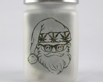 Santa Stash Jar - Limited Edition Cannabis Christmas 2020 - Airtight, Smell Resistant Weed Accessories and Stoner Gifts