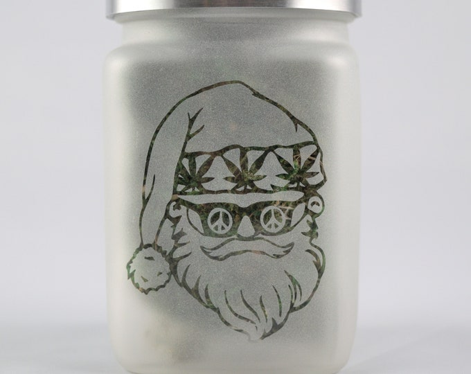 Santa Stash Jar - Limited Edition Cannabis Christmas 2019 - Airtight, Smell Resistant Weed Accessories and Stoner Gifts