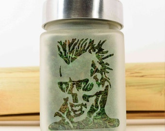 Zombie Skull Stash Jar - Weed Accessories, Cannabis Storage, Airtight, Smell Resistant Glass Stash Jars