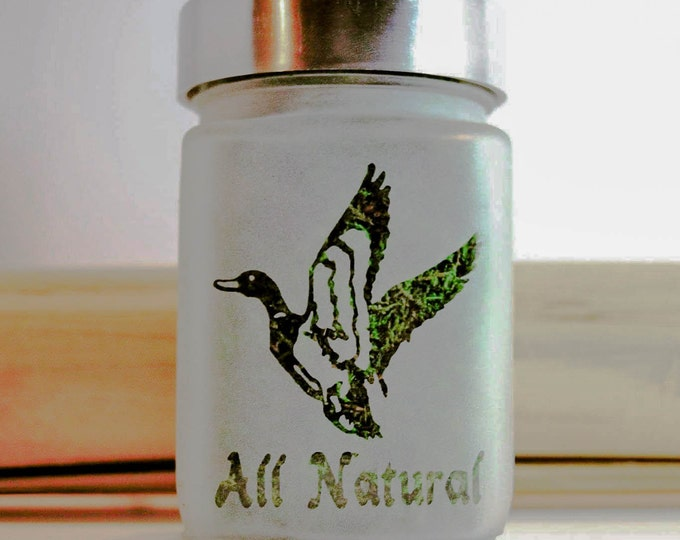 Mallard Duck Stash Jar - All Natural Weed Accessories, Stash Jars and Stoner Gear - 420 Gift - Stash Jar for Weed - Cannabis Christmas Gift